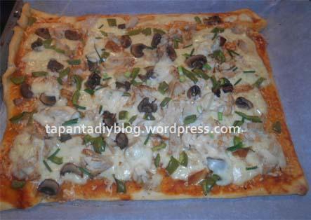 συνταγή για Εύκολη σπιτική πίτσα